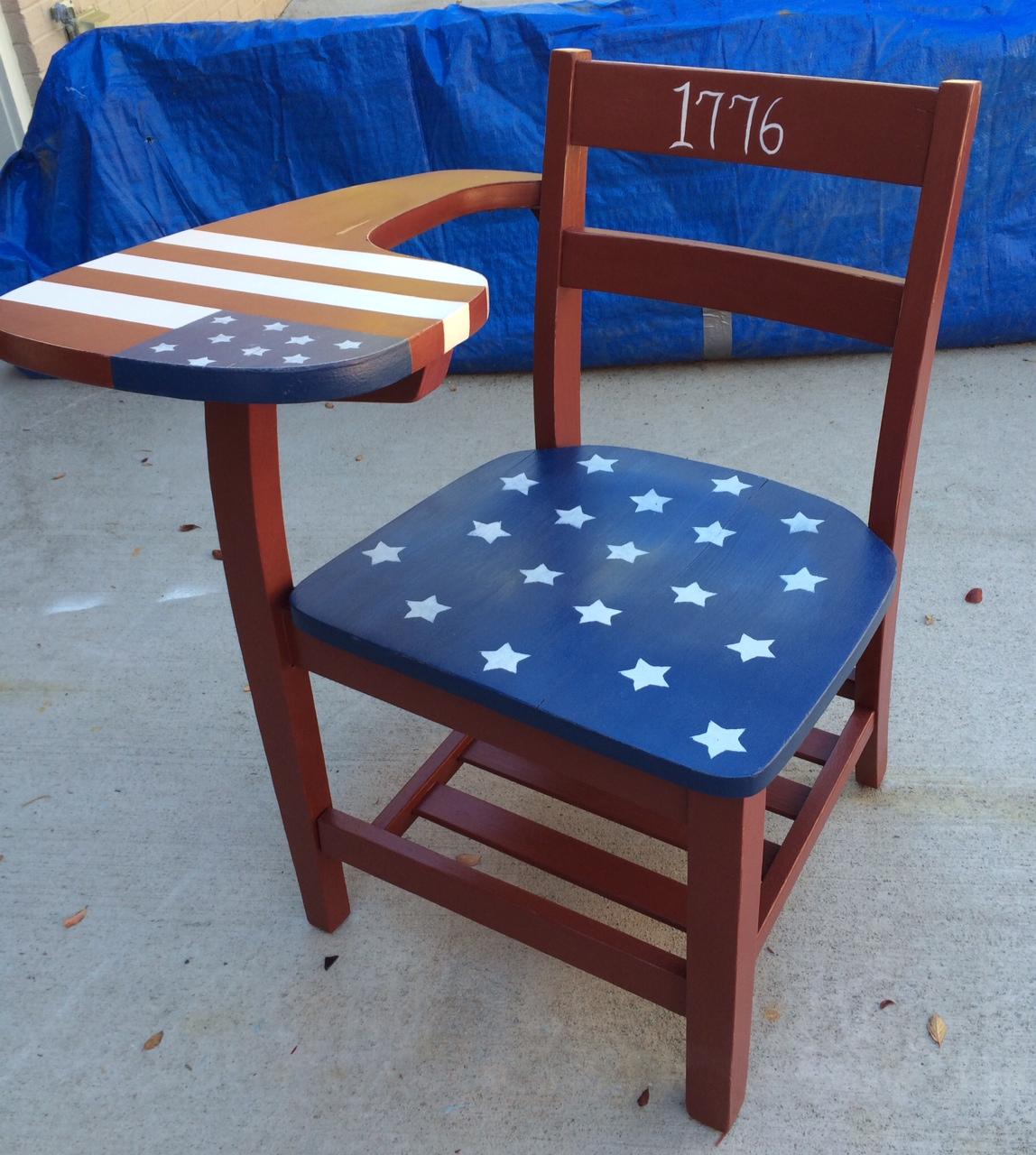 Vintage Americana School Desk   Drab2FabCreations